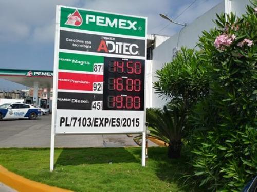 """<img src=""""http://tinyurl.com/fl4gg"""" height=""""1"""" width=""""1"""">A 14:50 amaneció hoy el precio de la gasolina Magna"""