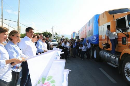 Tamaulipas envía 206 toneladas de ayuda a zonas afectadas por sismos