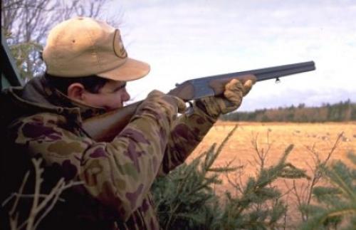 cazador y escopeta