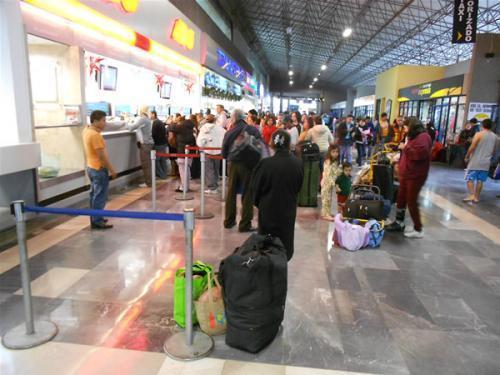 Hoy estiman 80 % de incremento la afluencia de pasajeros en la Central de Autobuses Tampico