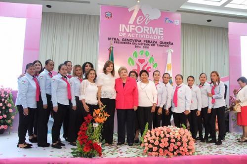 Rinde 1er Informe del DIF Tampico la Mtra. Genoveva Peraza Guerra