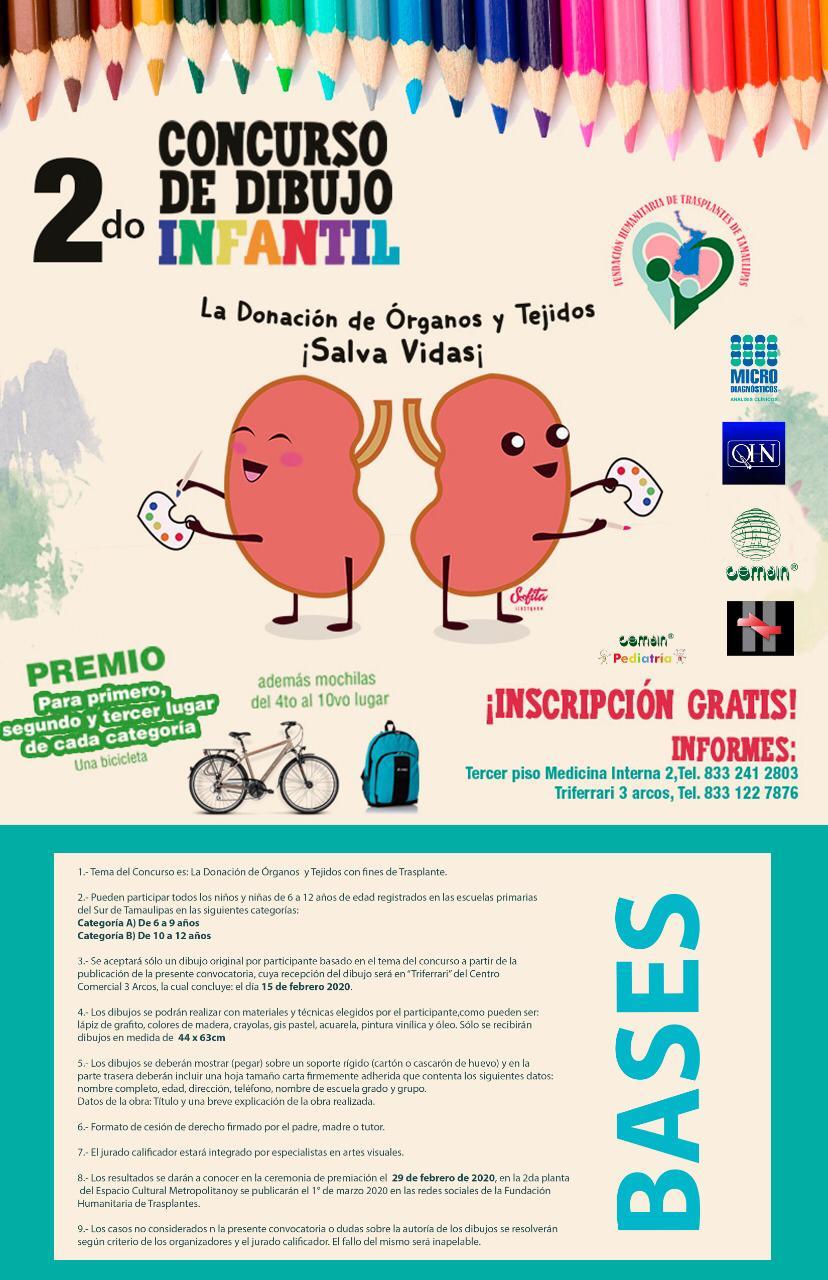 """Realizarán el 2do. Concurso de Dibujo Infantil con el Tema: La Donación de í""""rganos ¨Salva Vidas¨"""