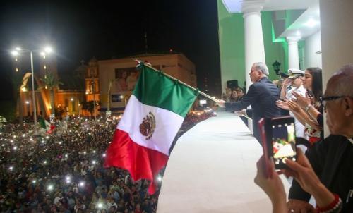 Da César Duarte su sexto y último Grito de Independencia