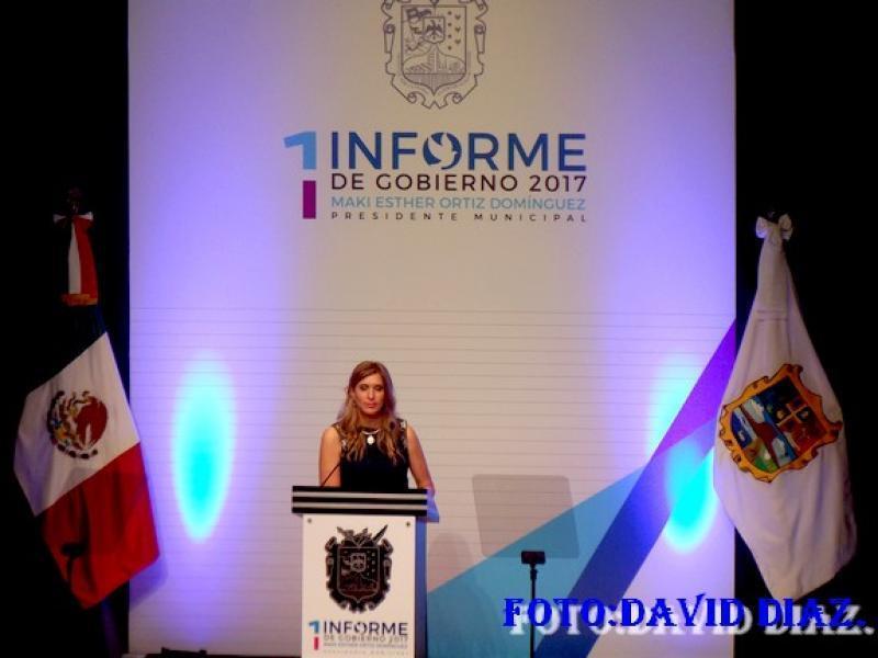 Alcaldesa Maki Ortiz, rinde primer informe de gobierno en Reynosa