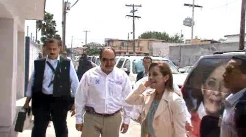 Impresionante convoy de seguridad de Josefina en Matamoros