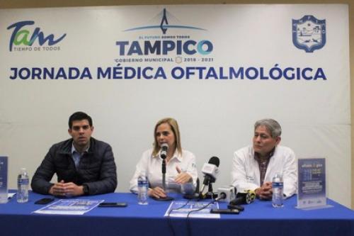 Presentan Jornada Médica Oftalmológica en Casa de la Cultura de Tampico