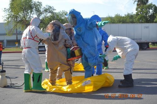 Realizan simulacro de derrame químico en el parque industrial Américas