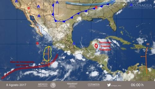 Depresión 7 evoluciona a Tormenta Tropical Franklin
