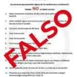 Alertan sobre falsedad en limitantes para recibir vacuna contra COVID-19