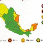 Tamaulipas entre los 5 Estados del país que se encuentran en naranja