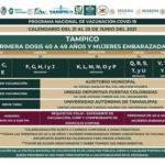 Próximo lunes inicia la vacunación a personas de 40 a 49 años de edad en Tampico