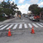 El Gobierno Municipal hizo entrega de tres calles pavimentadas.
