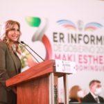 Rindió Maki Ortiz su Tercer Informe de Gobierno 2021
