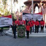 Protestan telefonistas por mutilación a su contrato Colectivo de Trabajo, advierten que irán a huelga